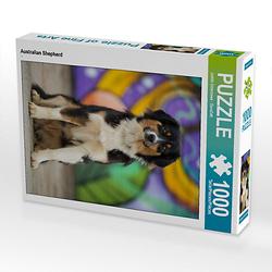 Australian Shepherd Lege-Größe 48 x 64 cm Foto-Puzzle Bild von DoraZett Puzzle