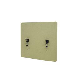 MCW Stellwand MCW-G75, Büro-Sichtschutz, Pinnwand, doppelwandig, Inkl. Anbringungen, Schalldämmend grün 60 cm x 65 cm x 2 cm