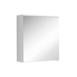 Badezimmer Spiegelschrank in Weiß einer Tür