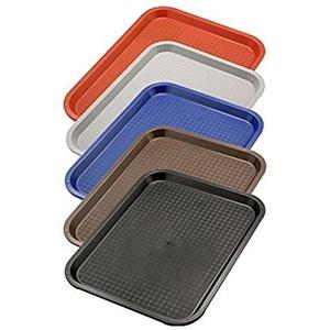 Serviertablett aus Polypropylen, mit Stapelnocken, reycelbar, Säure- und Chemiekalienresistent/in rot, grau, blau, braun oder schwarz mit unterschiedlichen Größen | ERK (A9-45 x 35 x 2 cm, Schwarz)