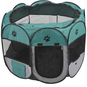 Bigking Tragbarer Haustier-Laufstall, tragbarer Haustier-Laufstall Zelt Klappbarer Hund Katzenhauskäfig Käfig im Freien Laufstall für Haustiere(S)