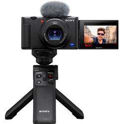 Sony Vlog-Kamera ZV-1 Kompaktkamera (20,1 MP, Bluetooth, WLAN (WiFi), Selfie Stick GPVPT2BT.SYU)