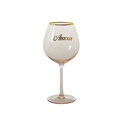 Rice Weinglas H: 23 cm Rosa/Gold