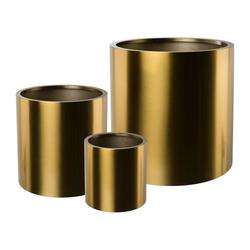 Edelstahl-Übertopf PURE, 3er Set, Farbe gold, Ø ca. 20, 30 und 40 cm