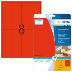 HERMA 8325 Versandetikett/Warnhinweis A4 50x142 mm neon-rot Papier matt 160 Stück
