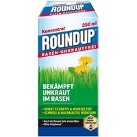 Roundup Rasen-Unkrautfrei Konzentrat, Spezial-Unkrautvernichter zur Bekämpfung von Unkräutern im Rasen mit sehr guter Rasenverträglichkeit, 250 ml für 165 m2