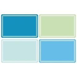 HERMA 10665 Beschriftungsetiketten 52x82 mm blau/grün ablösbar Papier matt Handbeschriftung 80 Stück