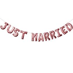 Just Married Folienballon Girlande Hochzeit Deko Hochzeitsfeier Hochzeitsdeko rosé gold