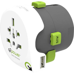 Q2 Power 2.100110 Reiseadapter Weltreiseadapter Qdapter USB