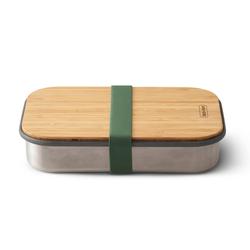 BLACK+BLUM Sandwichbox Edelstahl Bambus 22 x 15 x 5 cm olive