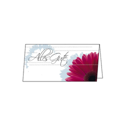 Sigel Glueckwunschkarte inkl.Umsch. ws rosa DIN lang 2/3 10 St