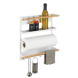 WENKO Ablageregal Küchenregal Magna, Weiß, Magnetisches Regal zur Befestigung ohne Bohren