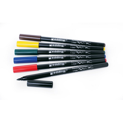 EDDING Lackmarker edding 4200 Porzellan-Pinselstift, 6er-Set, Family