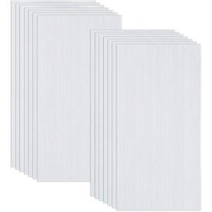 Ouhigher 14 Pcs Hohlkammerplatten Hohlkammerstegplatten Doppelstegplatten transparente Polykarbonat Platten 4 mm stark 60,5 x 121 cm Ersatzteile für Garten Treibhaus Ersatzplatten 10,25 m2