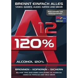 Alcohol 120% Version 12 Vollversion, 1 Lizenz Windows Brenn-Software