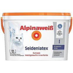 Alpina Farben Wandfarbe Alpinaweiß seidenlatex 559455 10l