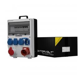 Stromverteiler TD-S/FI 1x16A 4x230V 32A Einbausteckdose Doktorvolt 0229