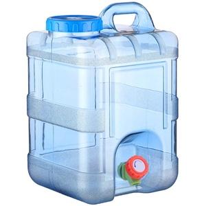 Wasserkanister Tragbarer Camping Wassereimer mit Wasserhahn Tragbarer Eimer Auto Wasserbehälter Reinwassereimer im Freien mit Wasserhahn Fass-Eimer für Haushalt Wasser
