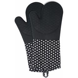 WENKO Topfhandschuhe, (Set, 2 tlg.), aus Silikon schwarz Topflappen und Topfhandschuh Kochen Backen Haushaltswaren Topfhandschuhe