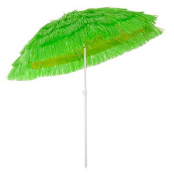 Kingsleeve Sonnenschirm, 160 cm Neigbar Höhenverstellbar Erdspieß Robust Standsicher leichter Transport Hawaiischirm Strandschirm Strandsonnenschirm grün