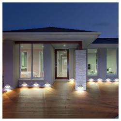 etc-shop LED Einbaustrahler, 10x LED Außen Wand Leuchten Treppen Stufen Strahler Hof Garten Lampen grau A