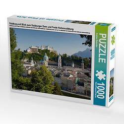 Salzburg mit Blick zum Salzburger Dom und Feste Hohensalzburg Lege-Größe 64 x 48 cm Foto-Puzzle Bild von Andreas Riedmiller Puzzle