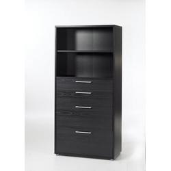 ebuy24 Regal, Mehrzweckregal Prisme Büro Aufbewahrung 4 Schubladen und 1 Ablage
