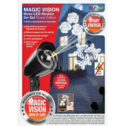 dynamic24 LED Motivstrahler, 2er Set Motiv LED Strahler Laser Projektor Beleuchtung Garten Lampe