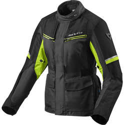 Revit Outback 3 Dames motorfiets textiel jas, zwart-geel, 36 Voordonne