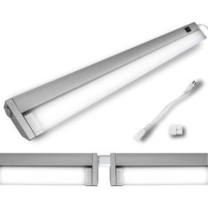 LED Schwenkkopf Unterbauleuchte Schwenkleuchte Eckleuchte Lichtleiste Spiegelleuchte Küchenleuchte Schrankleuchte 10 Watt 56cm 4000K Schwenkbar Lichtband möglich