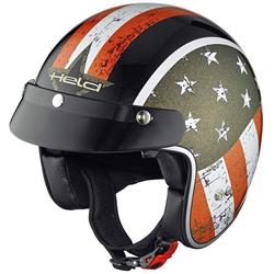 Held Black Bob Jet helm vlag ontwerp, zwart, XS