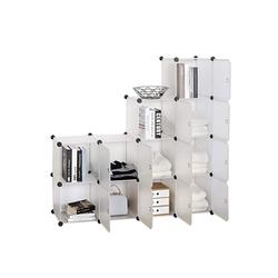 Woltu Kleiderschrank Garderobenschrank Lagerregal mit Tür Weiß
