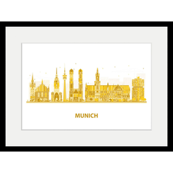queence Bild Munich Goldstadt, Städte (1 Stück) 60 cm x 50 cm