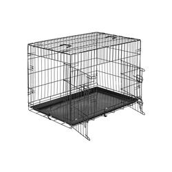 tectake Tiertransportbox Hundebox Gitter tragbar 89 x 58 x 65 cm - 58.0 cm x 65.0 cm x 89.0 cm