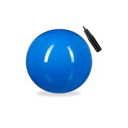 relaxdays Gymnastikball Gymnastikball 75 cm blau
