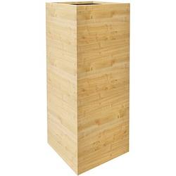 fm Plant Pflanzkübel Holz 38,0 x 38,0 x 90,0 cm ahorn