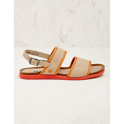 art Damen Vegan-Sandalen Asdis beige-orange sandaletten