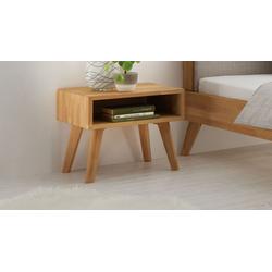 Nachttisch im skandinavischen Stil aus geölter Kernbuche - Elina