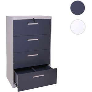 Hängeregisterschrank HWC-A10, Aktenschrank Büroschrank Stahlschrank, A4 abschließbar ~ 132x76x46cm g