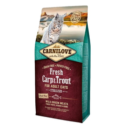 6kg Carnilove Cat Fresh Carp & Trout Sterilised Katzenfutter