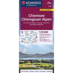 KOMPASS Fahrradkarte Chiemsee Chiemgauer Alpen 1:70.000 FK 3335