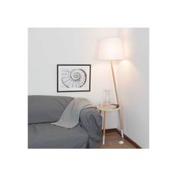 Licht-Erlebnisse Stehlampe LAMA Stehleuchte Dreibein Holz Weiß skandinavisch Wohnzimmer Lampe