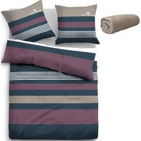 TOM TAILOR Carl taupe/beere (135x200+90x200+40x80cm)