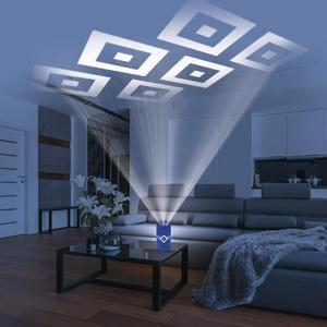 Hamburger SV LED-Echtwachskerze HSV Projektor | Der perfekte Fanartikel für Ihr Zuhause | Projiziert rotierende HSV Logos an die Decke, inkl. Fernbedienung | Timerfunktion [blau]