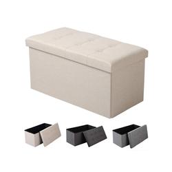 Woltu Sitzhocker, Sitzhocker -Fußhocker- mit Stauraum SH10