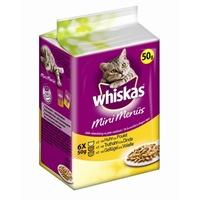 Whiskas Mini Menüs mit Huhn, Truthahn & Geflügel 12 x 6 x 50 g