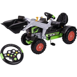 BIG Trettraktor Schwarz-Grün Jim Turbo Traktor