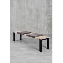 carla&marge Bankauflage Feels, Klemmkissen(2er Set),für eine Sitzbanktiefe von 37cm braun