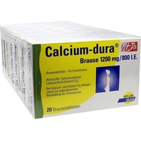Mylan dura GmbH Calcium-dura Vit D3 1200 mg/800 I.E. Brausetabletten 120 St.