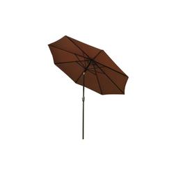 Outsunny Sonnenschirm Knickschirm mit Handkurbel braun